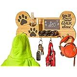 Emotiset Wandkapstok van hout met 6 haken, ideaal voor het ophangen van lijnen en accessoires van uw hond of huisdier. Gepers