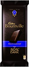 Cadbury Bournville 50% Cocoa Dark Chocolate Bar, 80 gm (Pack of 5)