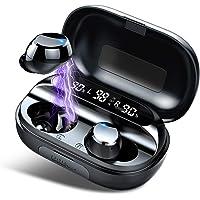 Tiksounds Kopfhörer Kabellos, In Ear Bluetooth 5.0 Kopfhörer mit Mic, 150H Spielzeit mit LED Anzeige Ladebox, IPX7…