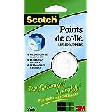 Scotch FIX02 Pack de 64 Pastilles Double-face Invisible
