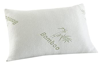 new luxury memory foam bamboo pillow head neck support antiallergy u0026 anti bacterial orthopedic pillow one standard size with removable cover pack of