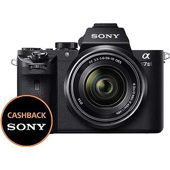 Sony Alpha 7M2K Kit Fotocamera Digitale Mirrorless Full-Frame con Obiettivo Intercambiabile SEL 28-70 mm, Sensore CMOS Exmor Full-Frame da 24.3 MP, Stabilizzazione Integrata a 5 Assi, Nero