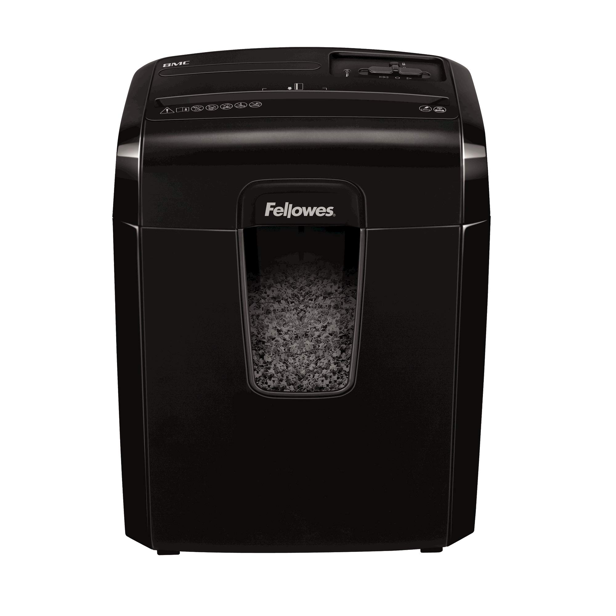 Fellowes Powershred 8Mc Destructeur de Documents 8 Feuilles Micro-particules – Technologie Safety Lock