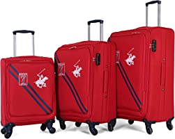 Beverly Hills polo club Soft case Trolley, Red - 010444