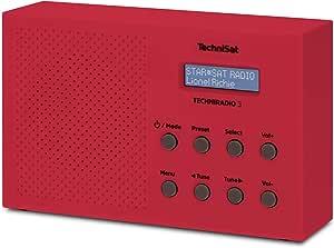 Technisat Techniradio 3 Dab Radio Dab Ukw Portabel Radiowecker Blockdesign Rot Heimkino Tv Video