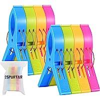 Pinces à serviette de plage Spurtar (paquet de 8) Pinces à linge pour chaise de plage de grande taille, pinces à linge…