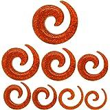 Tumundo Set Spiral Spirals 8 Pezzi Spiral Stretch Lumaca Acrilico Plastica Piercing Orecchio Glitter