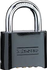 Master Lock 470-178Blk Diecast Resettable Padlock& Diecast Resettable Padlock -Box Of 6 Ea
