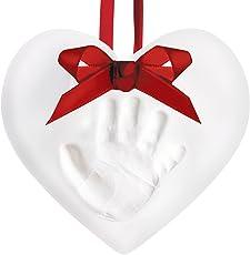 Pear Head Babyprints Baby Handprint Or Footprint Keepsake Ornament Kit Heart