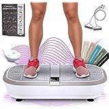Sportstech 3D Vibration Plate VP300 | Mega Fat Burner + 5 bandes de fitness supplémentaires | Vaste surface +2x1000W…