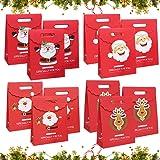 Sunshine smile Sacchetti Regalo in Carta Kraft,sacchettini Carta,Buste Regalo,Piccoli Natale scatole Regalo Natalizie,Borse C