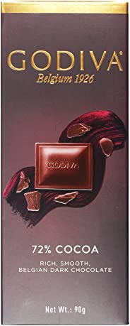 Godiva 72% Cocoa Rich, Smooth Belgian Dark Chocolate, 90g