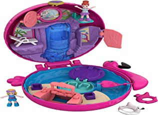 Polly Pocket FRY38 World Flamingo-Schwimmring Schatulle