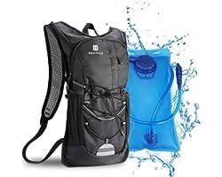BBAIYULE Zaino per idratazione 2L con borsa per vescica per idratazione Borsa per bicicletta da corsa all'aperto Ciclismo Esc