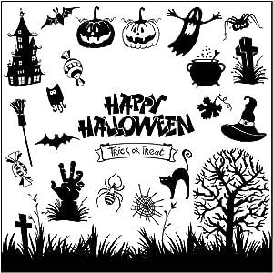 Happy Halloween trasparente silicone timbro sigillo per DIY Scrapbooking Foto Album