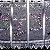 Scheibengardine Lavendel lila Höhe 45cm | Breite der Gardine frei wählbar in 14cm Schritten | Gardine | Panneaux (Höhe 45cm)