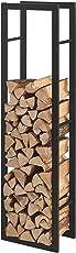 [en.casa] Kaminholzregal - in Verschiedenen Größen - Brennholzregal Feuerholzregal Holzhalter
