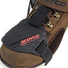 MOTOCRAZE Scoyco Gear Shift Shoes Protector with Hologram Sticker (Black, SCY-FS02)