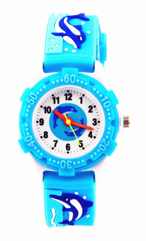 Mixe Time Teacher Boys Girls Children Kids Analog Wrist Watch Cartoon 3D Band Environment Friendly Silicone