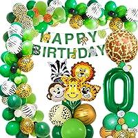 AcnA Dschungel Geburtstag Dekoration 0 Jahr, Geburtstagsdeko Jungen 0 Jahr, Kindergeburtstag deko Safari Happy Birthday…