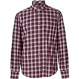 Bar Harbour Premium Cotton LS Wine//Navy Casual Shirts 0268