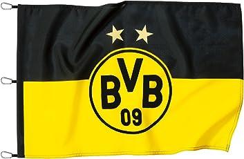 Borussia Dortmund BVB 15131000 Hissfahne 150x100cm mit Logo, Schwarz/gelb, 150 x 100 x 1 cm