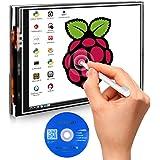 Kuman 3.5 inch 320*480 Resolution Touch Screen TFT LCD Display Module SPI Interface with Touch Pen 3.5 zoll LCD Bildschirm for Raspberry-pi 3B+ 2 Model B/B+ 2B SC06