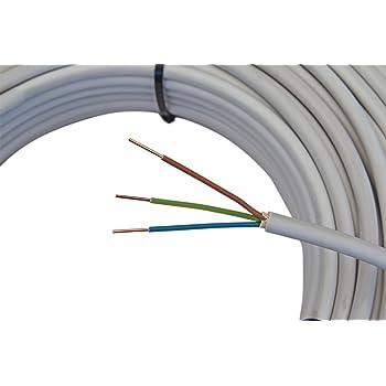Mantelleitung NYM-J 3x1,5mm² Kabel | 25m 3 adriges ...