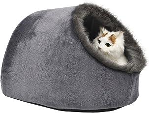 VERTAST Katze kleine Hund gemütliche Bett Haustiere Iglu Bett kuschelhöhle für katzen, Kissen waschbar