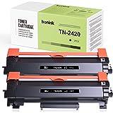 BONINK Compatible TN2420 TN-2420 pour Brother MFC-L2710DW MFC-L2710DN DCP-L2530DW HL-L2375DW HL-L2370DN HL-L2350DW (2 × Noir)