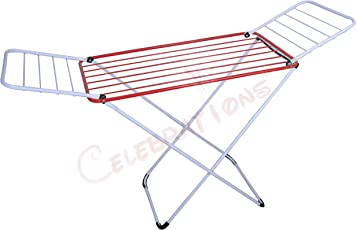 Celebrations Home Utility Fast Dry Cloth Drying Stand - Grey