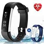 HolyHigh 115U HR Fitness Band, Activity Tracker Watches with Heart Rate Monitor Sleep Tracker Pedometer Calories Counter...