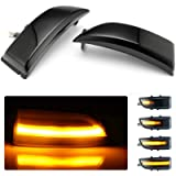 Dynamic LED Side Mirror Indicator Turn Signal Lights Replacement for F-ord Everest Ranger T6