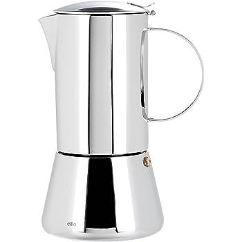 BRA Bella Kaffeemaschine Edelstahl 18//10 2 tasses