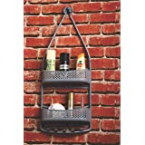 Unyks Star Shower Caddy Hanging with Adjustable Arms Portable Organizer Hanging Shower Storage for Shampoo Conditioner Soap B