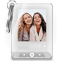 Schlüsselanhänger im Song Cover Design mit Foto und Wunschtext Titel - Interpret o. Namen ideal Geschenkidee zu…