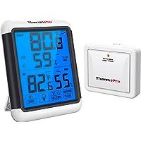 ThermoPro TP65 Hygromètre Numérique sans Fil Thermomètre Intérieur Extérieur Moniteur de Température et D'humidité avec…