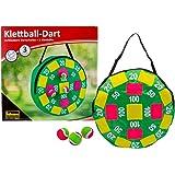 Idena 40127 dartspel met opblaasbaar dartbord van stof en 3 klittenbandballen, diameter ca. 40 cm, ideaal voor binnen, buiten