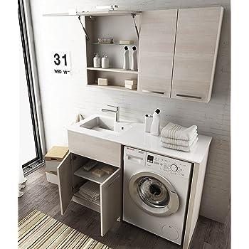 Mobile arredo bagno vip disp in 10 colori con porta lavatrice coprilavatrice piano in cristallo - Mobili lavanderia su misura ...