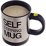 Smartfox selbstrührender Kaffeebecher Thermobecher Tasse inkl. Deckel mit Trinköffnung Self Stiring Mug
