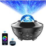 WiFi LED Proiettore Musicale con Telecomando APP, ALED LIGHT Lampada Stelle Altoparlante Bluetooth Integrato e Sensore Sonoro