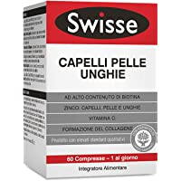 Swisse Integratore Capelli Pelle Unghie, Integratore Alimentare con Biotina, Zinco, Vitamina C, Ferro, Silicio ed…
