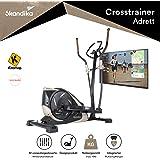 skandika Adrett Design-Crosstrainer mit Bluetooth, App-Steuerung, Tablethalterung, Magnetbremssystem, 12 kg Schwungmasse, 32-Fach verstellbar
