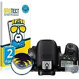 2x protezione schermo per la protezione Canon EOS 77D film cristalline Screen Guard