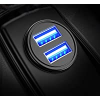 HSR Car Charger, 3.1A Adapter Dual USB Port Fast Mini Flush Fit Compatible with All Phone and All Car