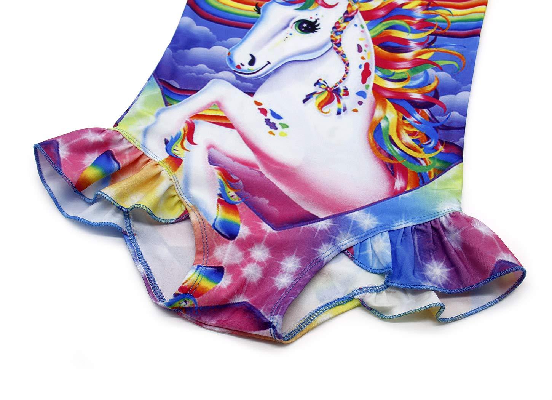 AmzBarley Unicorno Costumi Interi da Ragazza Bambina Costume da Bagno Mare Piscina Nuoto Nuotare Abbigliamento da… 5 spesavip