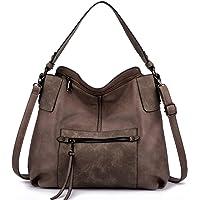Realer Handtasche Damen Shopper Leder Umhängetasche Groß Schultertasche Frau Elegant Henkeltasche Hobo Taschen mit…
