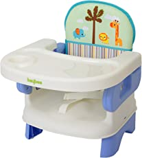 BAYBEE Virgin PVC Plastic Folding Booster Seat with 3-Point Harness (Blue, BBSC07213_BL)