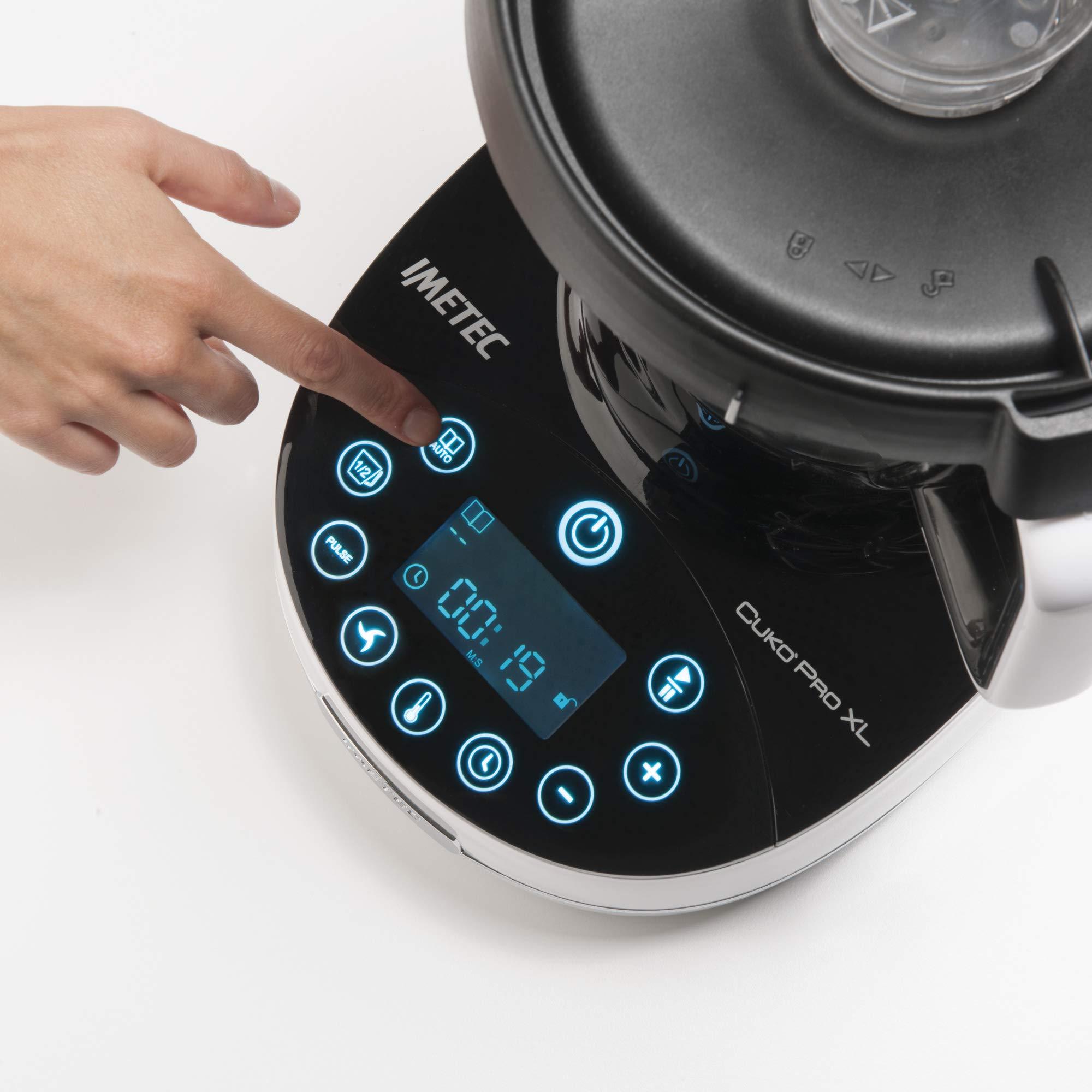 Prezzo Cuko Di Imetec.Imetec Cuko Pro Xl Cm3 2000 Robot Da Cucina Multifunzione Con Cottura Cooking Machine 20 Programmi Automatici 10 Funzioni Impasta Pane E Pizza 6