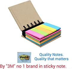 3M Post-it Notes in Pocket Spiral Notes 2 Sizes